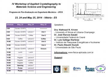 Programação IV Workshop de Cirstalografia Avançada